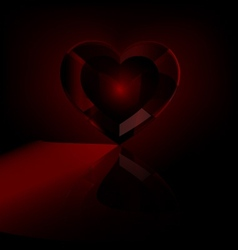 dark red heart-crystal vector image