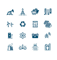 energy icons - micro series vector image