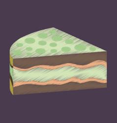 Flat shading style icon design cake vector