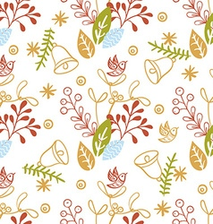 Floral christmas background vector