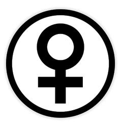 Gender female symbol button vector image