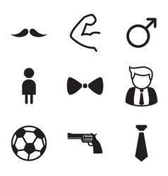 Gentleman icons symbol set vector