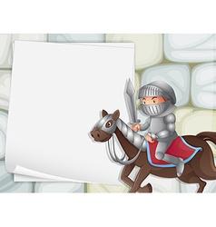 Knight banner vector