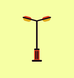 Lamp street electricity industry vector