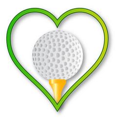 Love golf vector