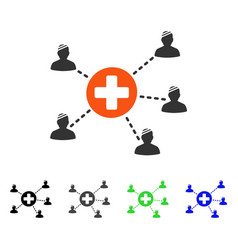 Patient medical network flat icon vector