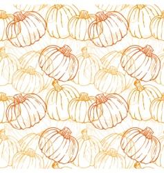 pumpkin pattern vector image vector image