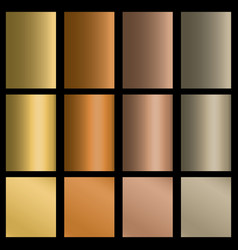 set of gradients vector image vector image