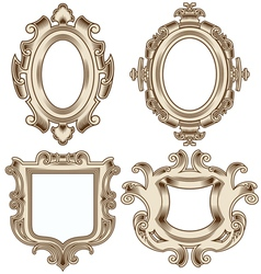 set of vintage heraldic frames vector image