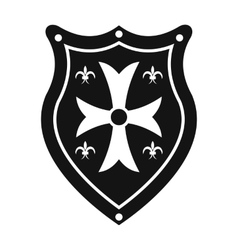 Shield simple sign vector