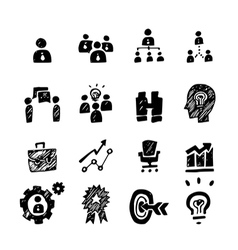 Sketch business icon vector
