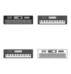 Synthesizer icon in cartoon style isolated on vector