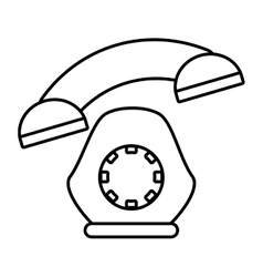 Telephone communication appliance home outline vector