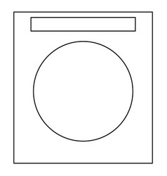 Washing machine the black color icon vector
