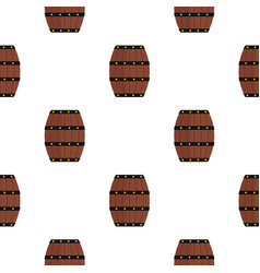 Wine wooden barrel pattern flat vector