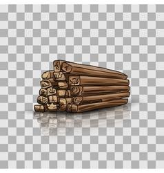 Wooden storage vector image