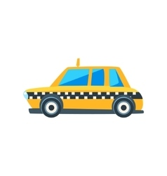 Yellow Taxi Toy Cute Car Icon vector image