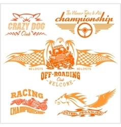 Set of off-road suv car emblems and badges vector image