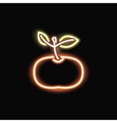 Neon tangerine silhouette icon vector