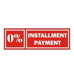 Icon payment installment red rectangular frame vector