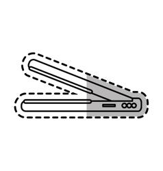 Isolated hair iron design vector