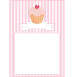 Sweet retro cupcake restaurant menu card vector