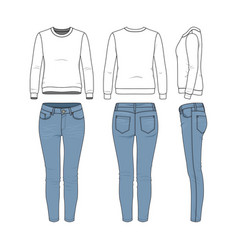 Clothing templates set vector