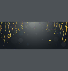 gold confetti and streamers vector image