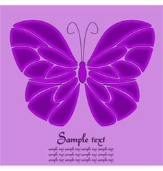 Purple butterfly background vector