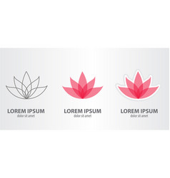 icon of the lotus vector image