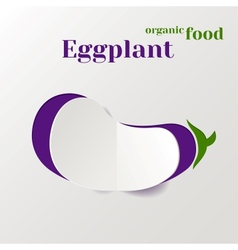 Abstract paper eggplant vector