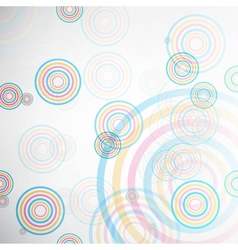 Abstract background made of set of rings vector