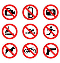 prohibit sign vector image
