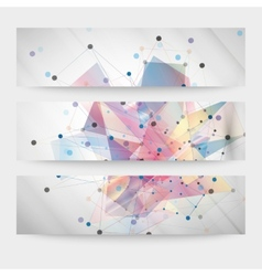 Set of abstract colored backgrounds triangle vector