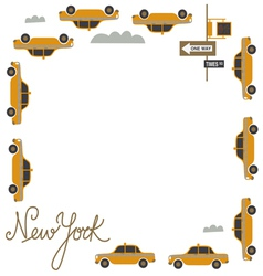 Frame design with nyc taxi vector