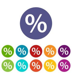 Percent flat icon vector