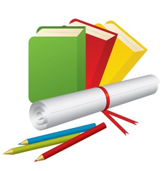 3d school supplies vector image
