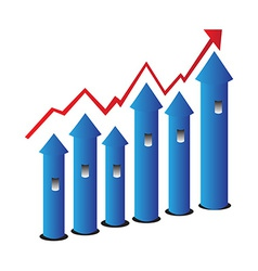 Grow chart vector image