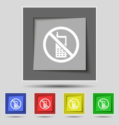 Mobile phone is prohibited icon sign on original vector