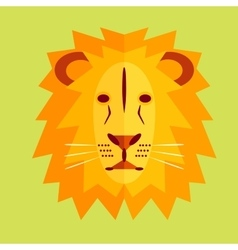Lion in geometric style vector