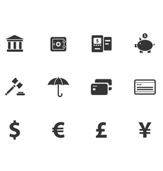 12 cash icons vector