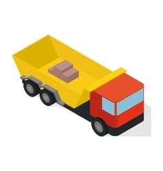 Isometric truck icon vector