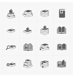 Modern web books set on white vector