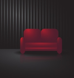 Red sofa vector