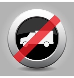 Gray chrome button - no lorry car vector