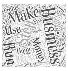 A defrazzled home business word cloud concept vector