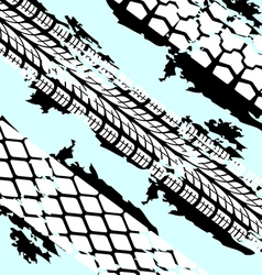 Abstract background tire prints vector image vector image
