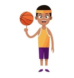 Afroamerican man player basketball with uniform vector