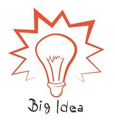 Big idea with bulb outline vector