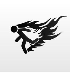 Burning man vector